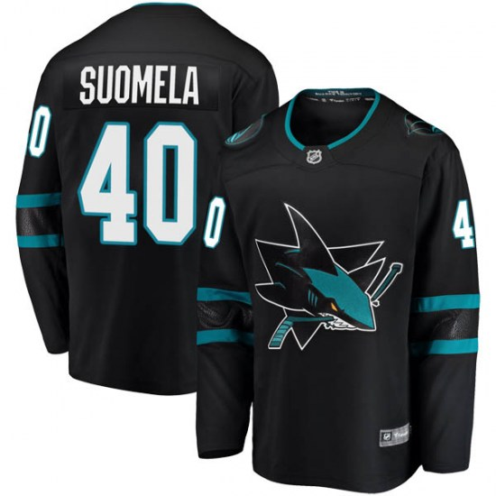 Antti Suomela San Jose Sharks Youth Breakaway Alternate Fanatics Branded Jersey - Black