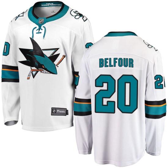 Ed Belfour San Jose Sharks Youth Breakaway Away Fanatics Branded Jersey - White